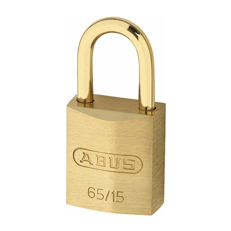 Image of 09326 65MB/15mm Solid Brass Padlock Keyed Alike 6151 - Abus