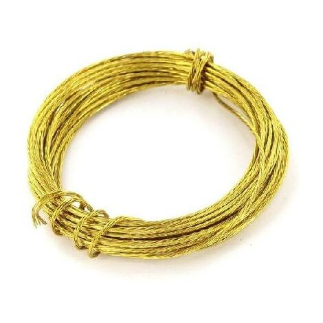 """main image of """"Brass PICTURE WIRE 3.5 Metre Photo Frame Mirror Wall Hanging DIY"""""""