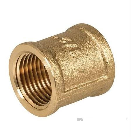 "Brass Socket - 1/2"" (Female) x 1/2"" (Female)"