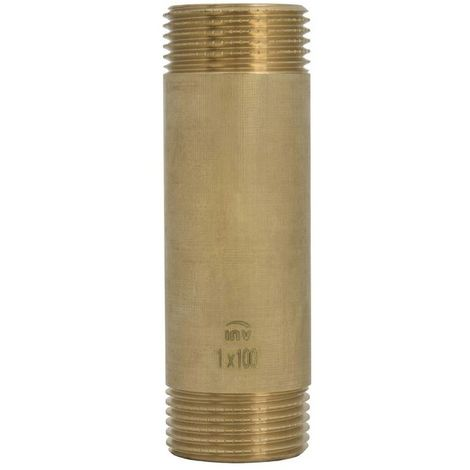"""Brass Water Heating Systems Pipe Fittings 1"""" Male x Male 150mm Length"""