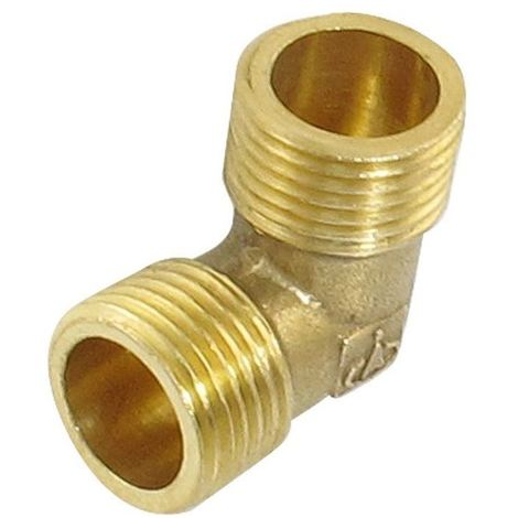 Brass Water Pipe Male Elbow Adapter Connector 1 inch BSP Thread Fittings