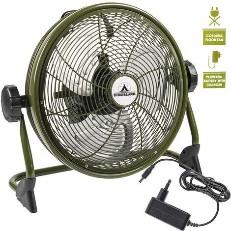 brasseur d'air rechargeable 35cm 25w vert - aod12accu - bestron