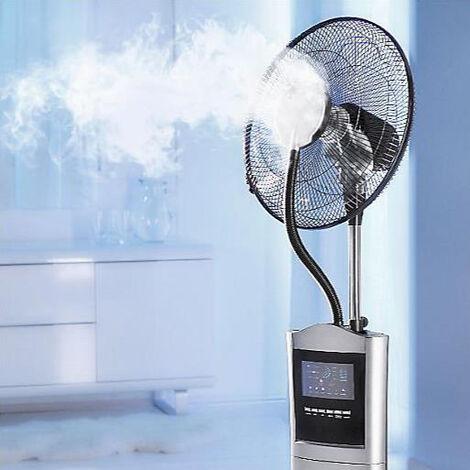 BRAST Ventilateur sur pied très silencieux 4en1: refroidisseur d'air, brumisateur et purificateur d'air, à trois vitesses et modes de fonctionnement