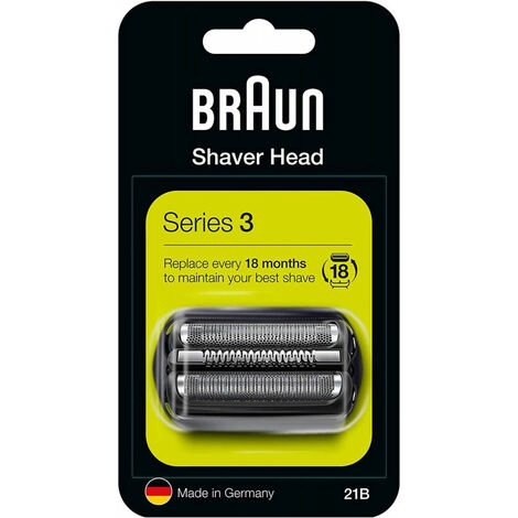 Braun 21B - Shaving head - 2 tête(s) - Series 3 - Noir - Argent - 18 mois - Braun (163596)