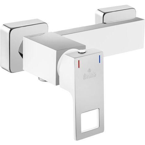 Brausearmatur ohne Duschset Weiß Chrom ANEMON-30 Duscharmatur
