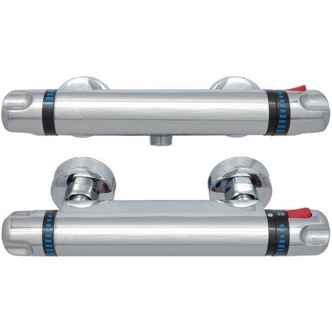 Brausethermostat Duschthermostat Chrom Thermostat Duscharmatur Mischbatterie Dusche Wasserhahn