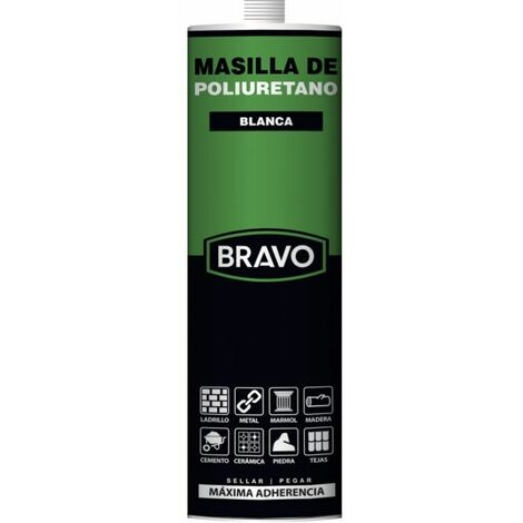 Bravo Masilla poliuretano blanca cart.