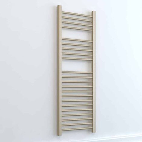 BRAY ELEMENTS Straight Heated Towel Rail / Warmer - Dual Fuel + Thermostat, Timer