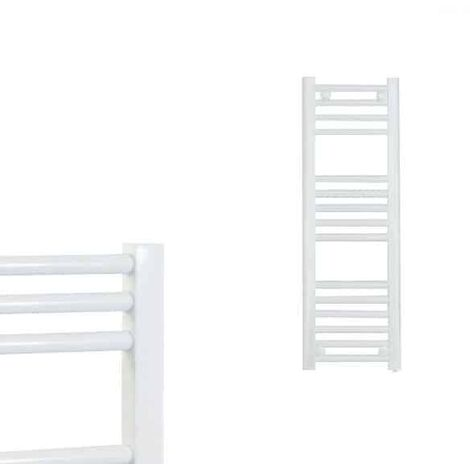 BRAY Straight Towel Warmer / Heated Towel Rail Radiator, White - Central Heating