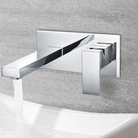 Brayton Square Wall Mounted Basin Mixer Faucet Tap