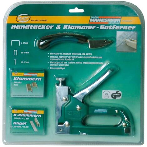 Brder Mannesmann Five Piece Staple Gun Set 48440