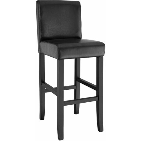 Breakfast bar stool made of artificial leather - bar stool, kitchen stool, wooden stool