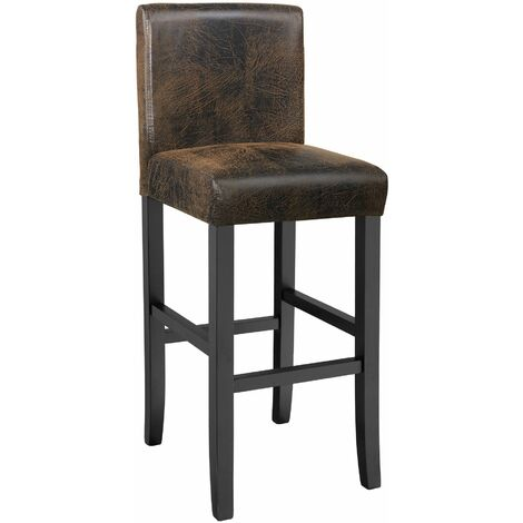"""main image of """"Breakfast bar stool made of artificial leather - bar stool, kitchen stool, wooden stool"""""""