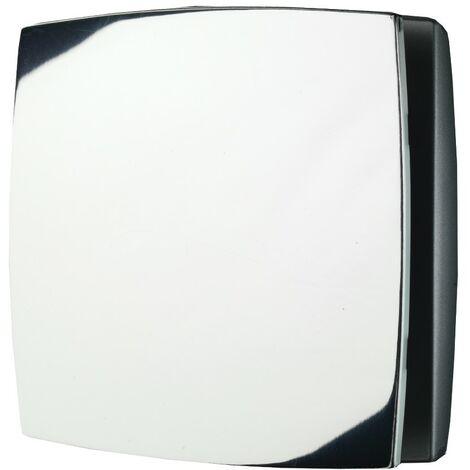 Breeze Chrome Wall Mounted Bathroom Fan with Timer & Humidity Sensor