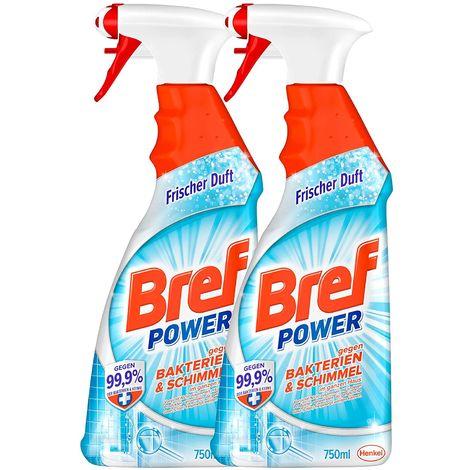 Bref Power 2x750 ml gegen Bakterien und Schimmel Sprühflasche 2er Pack Reiniger