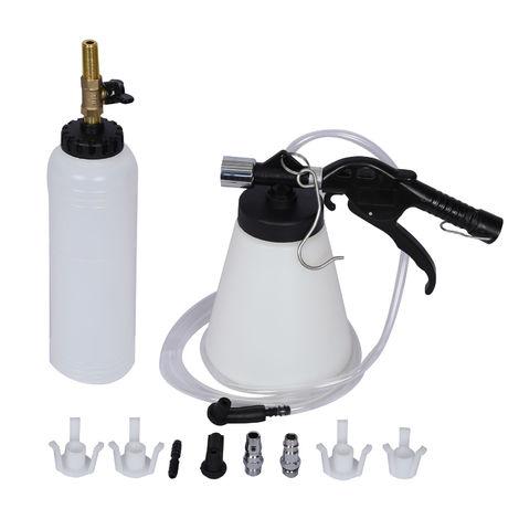 Bremsenentlüftungsgerät Bremsenentlüfter Nachfüllflasche Druckluft 1Liter Entlüftung Bremsen