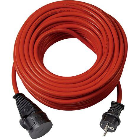 Brennenstuhl 1169830 Strom Verlängerungskabel 16A Rot 10.00m für Außenbereich geeignet S038091