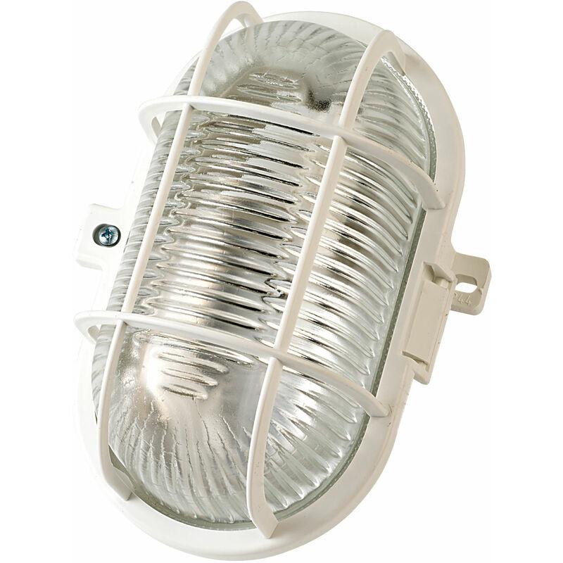 127 042 0 Bulk Head Light 60W Oval Ip44 White - Brennenstuhl