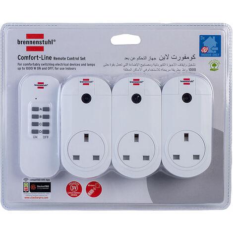 Brennenstuhl 1507043 Remote Control Set 1 + 3 RCS 1000 Comfort