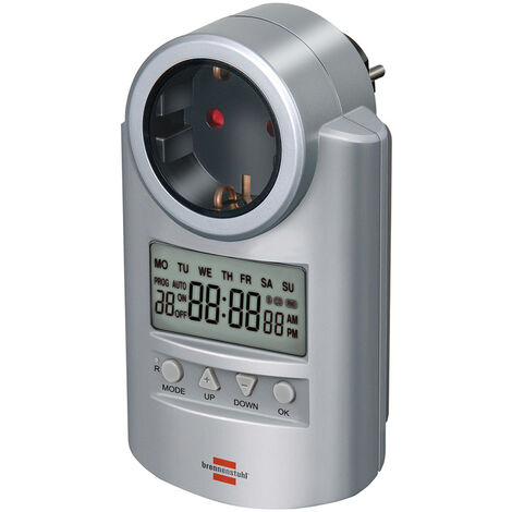 BRENNENSTUHL 1507500 - Reloj conmutador digital para programación semanal DT