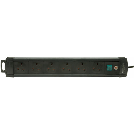 Brennenstuhl 1951163100 6 Way Extension Socket Black