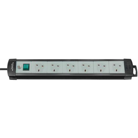 Brennenstuhl 1951563101 Premium Line Multi Way Extension 6 ways Black/Grey 5m