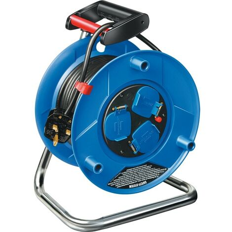 Brennenstuhl 25M Heavy Duty Cable Reel 13A 3-OUTLETS