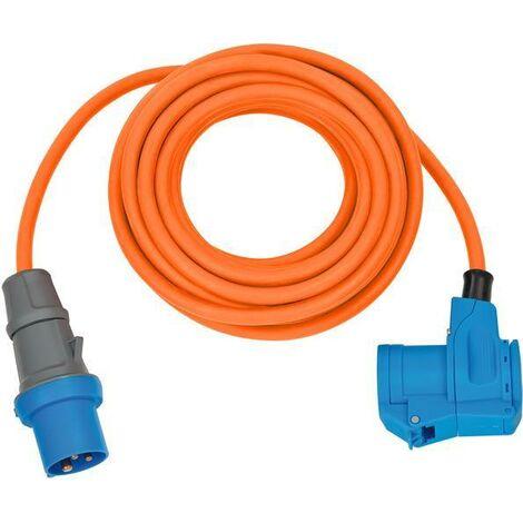 Brennenstuhl Adaptateur CEE IP44 10m orange H07RN-F 3G2,5 prise CEE, Connecteur coudé 230V/16A - 1167650510