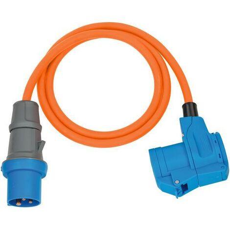 Brennenstuhl Adaptateur CEE IP44 1,5m orange H07RN-F 3G2,5 prise CEE, Connecteur coudé 230V/16A - 1132920525