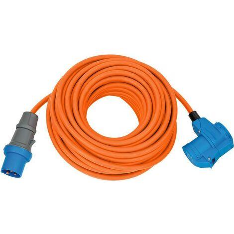 Brennenstuhl Adaptateur CEE IP44 25m orange H07RN-F 3G2,5 prise CEE, Connecteur coudé 230V/16A - 1167650525