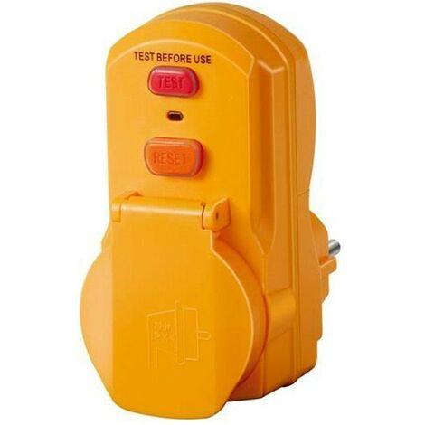 Brennenstuhl Adaptateur jaune avec protection différentielle 30mA (IP54)
