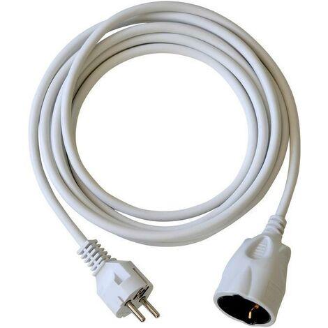 Brennenstuhl BAT Rallonge électrique 3m de câble H05VV-F 3G1,5 avec prise à clapet (IP44, blanc) - 1164020