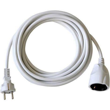 Brennenstuhl BAT Rallonge électrique 5m de câble H05VV-F 3G1,5 avec prise à clapet (IP44, blanc) - 1164120