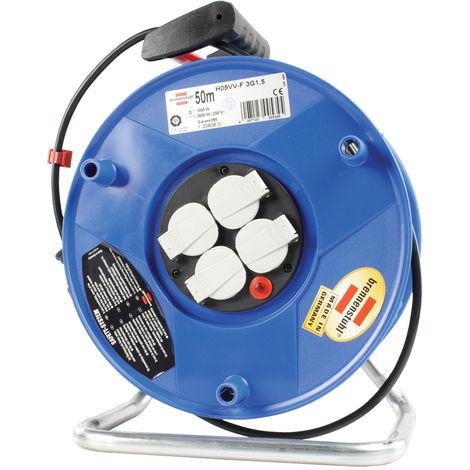 Brennenstuhl Bobine de câble 50 m H05VV-F 3G1.5 IP20 NE1018764