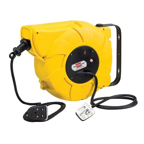 Brennenstuhl BRE003300 Automatic Cable Reel 240 Volt 16+2 Metre 13 Amp Safety Cut Out