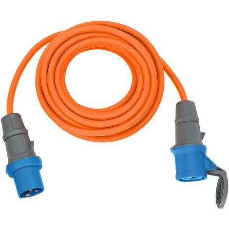 Brennenstuhl Câble d'extension CEE 230V IP44 10m H07RN-F 3G2,5 orange Prise CEE 230V/16A et couplage - 1167650610