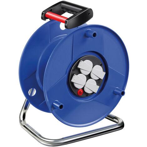BRENNENSTUHL - Enrollacables Garant® IP44 con 3 tomas de corriente y cable Bremaxx®