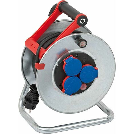 Brennenstuhl Enrouleur de câble Garant S IP44 25m AT-N05V3V3-F 3G1,5 noir