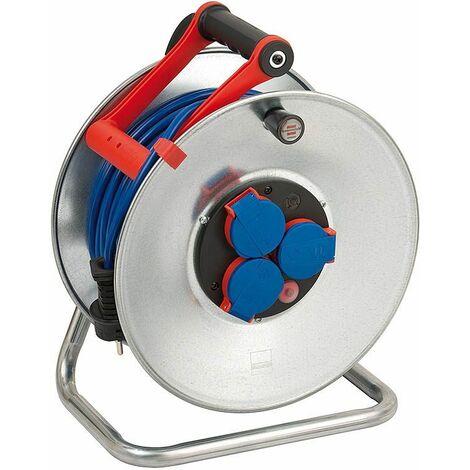 Brennenstuhl Enrouleur de câble Garant S IP44 50m AT-N05V3V3-F 3G1,5 bleu