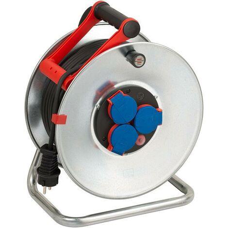 Brennenstuhl Enrouleur de câble Garant S IP44 50m AT-N05V3V3-F 3G1,5 noir