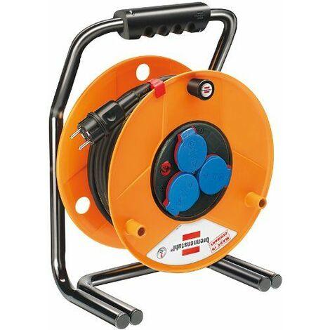 Brennenstuhl Enrouleur de Câble IP44 Résistance aux Déchirures Tambour Dévidoir Enrouleur de Cordon Automatique pour Extérieur 40/50 m