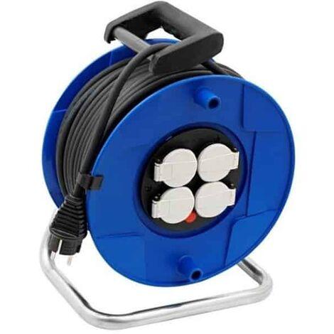 BRENNENSTUHL - Enrouleur électrique manuel - disjoncteur - 4P