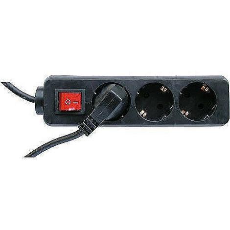 Brennenstuhl Multiprise 3prises avec Interrupteur noir 1,4m (1550600413)