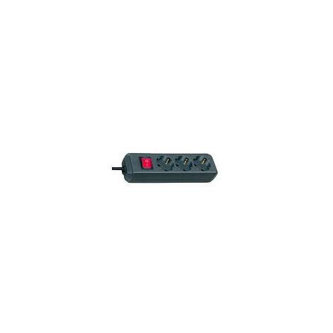 Brennenstuhl Multiprise ECO-Line 3prises 3m avec Interrupteur noir (1152300400)