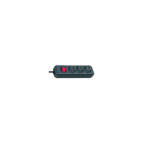 Brennenstuhl Multiprise ECO-Line 3prises 5,0m avec Interrupteur noir (1152900)