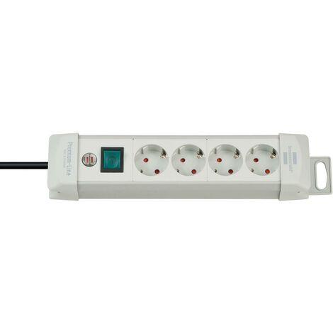 Brennenstuhl Premium-Line 4 prises gris clair 1,8 m H05VV-F 3G1,5