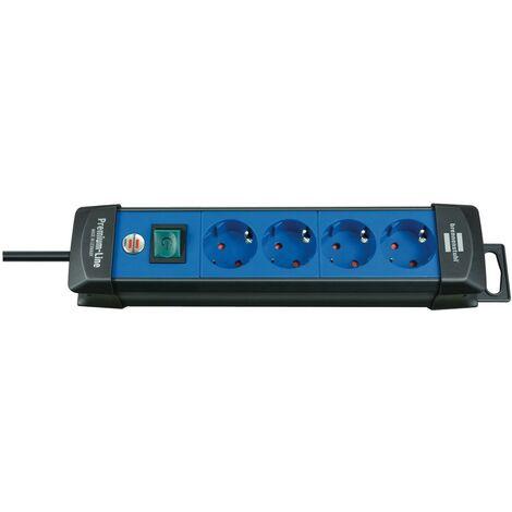 Brennenstuhl Premium-Line 4 prises noir/bleu 1,8 m H05VV-F 3G1,5