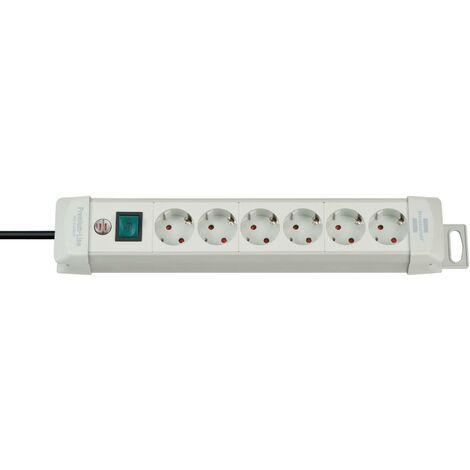 Brennenstuhl Premium-Line 6 prises gris clair 3 m H05VV-F 3G1,5
