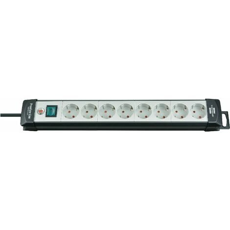 Brennenstuhl Premium-Line 8 prises noir/ gris clair 3 m H05VV-F 3G1,5