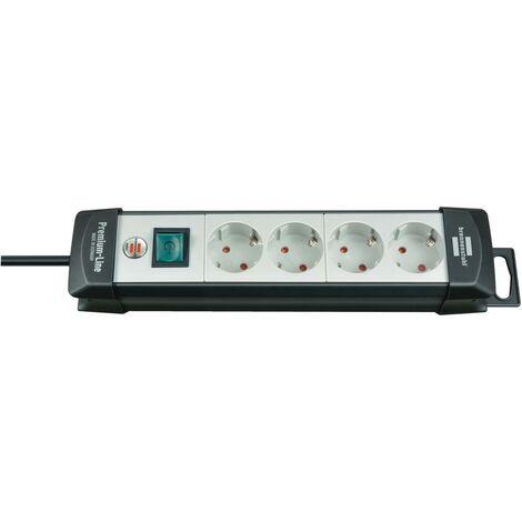 Brennenstuhl Premium-Line prolongateur multiprises 4- prises noir/grisclair 5m H05VV-F 3G1,5